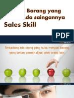 Menjual Barang Yang Belum Ada Saingannya Sales Skill