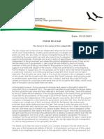 AAP Press Release Lokpal