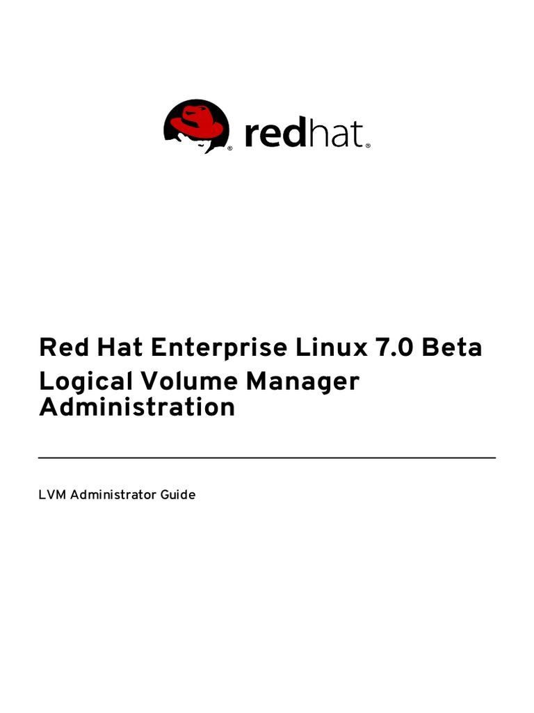 194047504 Red Hat Enterprise Linux 7 Beta Logical Volume