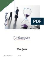 Timepaq User Manual