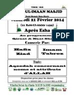 Programme @ Noor Ul Imaan Masjid