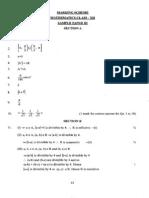 12 Mathematics Sample Paper 2010 3 Ms