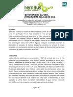 Obtencao de Cafeina-Colegio Sao Goncalo
