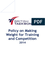 British Taekwondo Making Weight Policy 2014