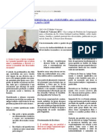 Artigo Dom Müller sobre matrimónio - dividido perguntas