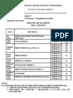 Examene 16.01-16.02 Drept Anul IV Id Continuare Studii 2013-2014