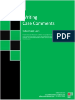 Writing Case Comments