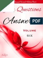 Your Questions Answered Volume 6 - Allamah Sayyid Sa'eed Akhtar Rizvi - XKP