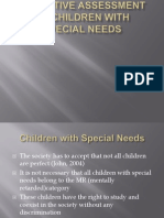 Cognitive Assessment of Children With Special Needs (Hearing, Visual, Motore Impaiments. Etc.)