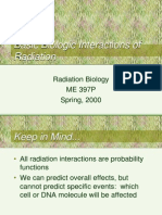 Basic Biologic Interactions of Radiation