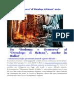 Decalogo Di Satana Anche in Italia