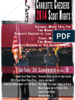 Charlotte Checkers 2014 Scout Sleepover Night