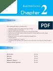 Chapter 2 Electrostatics Spring 2010