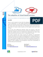 The adoption of cloud-based services