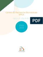 Rapport d'Activité du CRB EPLS 2009-2013