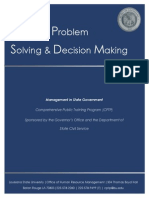 Effective Problem Solving and Decision Making