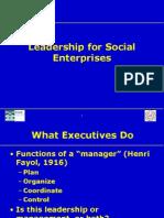 Social Enterprise Leadership