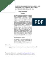 4-Desagregación temporal y dinámica cíclica del PIB de Uruguay. Aplicación para muestras deslizantes en período 2005 - 2012