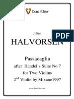 Halvorsen - Passacaglia for Two Violins