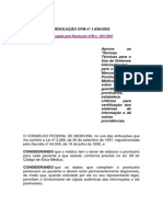RESOLUÇÃO CFM- n. 1.639-2002
