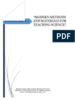 Modern Methods and Material Science