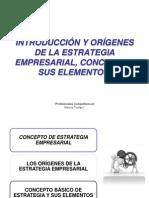 Introducción y Orígenes de la estrategia empresarial, Concepto y sus elementos