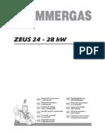 ZEUS 24 28 kW Instructiuni Instalare Si Utilizare