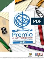 Convocatoria Premio IDEP 2013
