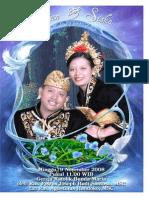 Booklet Misa Pernikahan Dian Siska Full Cover