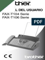 Manual de Instrucciones BROTHER FAX T104 S