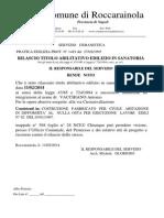 Documento -Rende Noto Rilascio Titolo Abilitativo Edilizio in Sanatoria n. 121-724