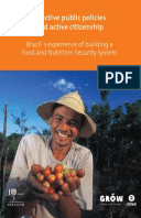 Effective Public Policies and Active Citizenship: Brazil's experience of building a food and nutrition security system