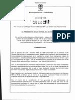 Decreto 2766 Comercializadoras Internacionales Dic 2012