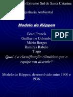Trabalho de Climatologia Köppen