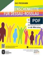Programmheft Eine Menschenkette Fuer Dessau Rosslau 08 Maerz 2014