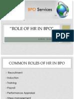 ROLE OF HR IN BPO