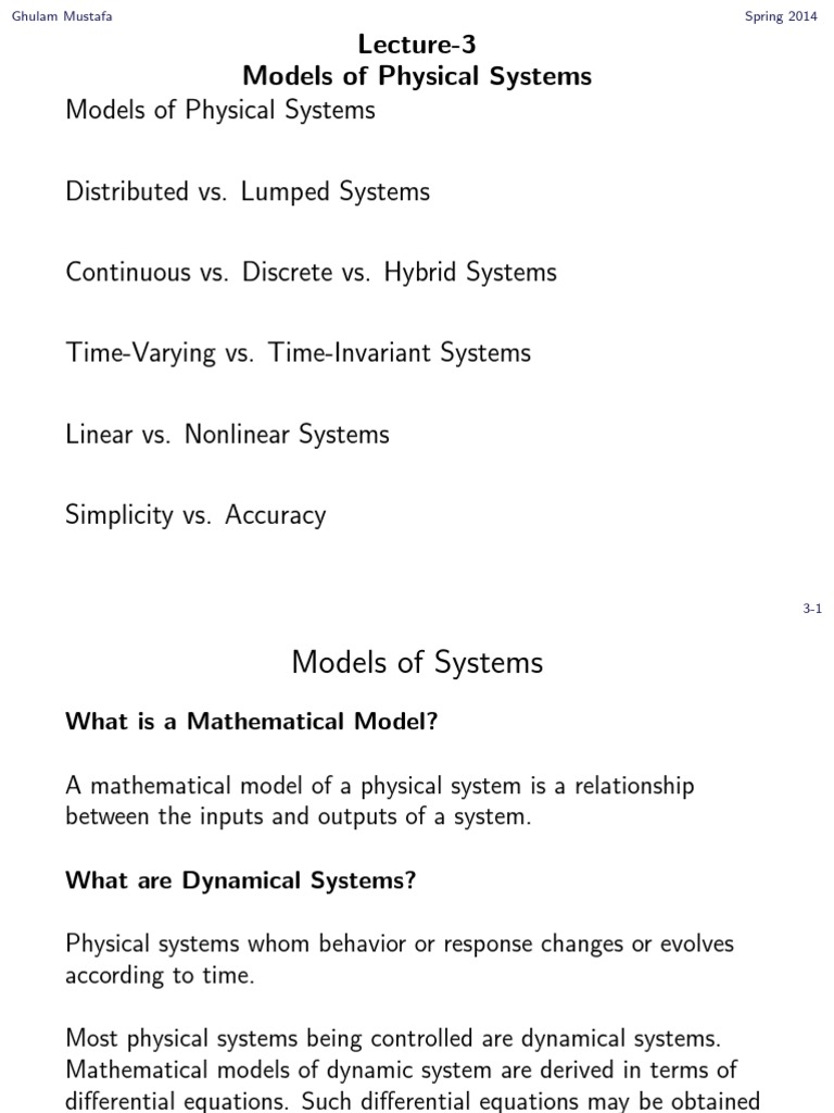 control modelling | nonlinear system | mathematical model