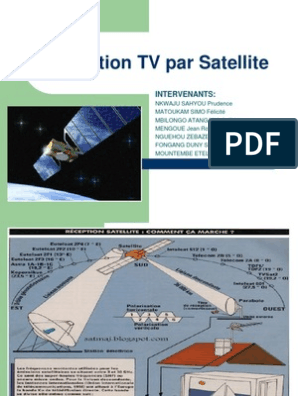Expose Reception Tv Par Satellite Le Bonppt