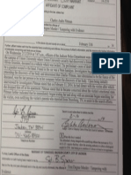 Part 1 of affidavit charging Charles Pittman with murder of fiancee Olivia Greenlee