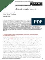 El masoquismo femenivo según los post-freudianos (Silvia Elena Tendlarz)