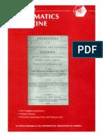 (Mathematics Magazine 73 1)Walter Stromquist (Editor in Chief). 73-Mathematical Association of America(2000)