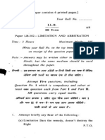 Ll.b III Term Paper Lb 302 Limitation and Arbitration
