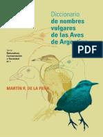 Diccionario de Nombre Vulgar de Aves