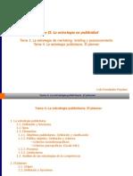 Tema 4. La Estrategia Publicitaria. El Planner