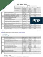 Supplier Assessment Checklist