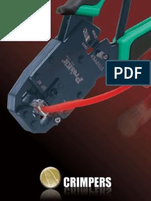 ProsKit 300-073 Lunar Series Crimper 16-14 AWG 22-18 Flag Terminal Uninsulated