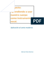 """proyecto """"Aprendiendo a usar nuestro cuerpo como instrumento vocal"""" Marina Piniés"""