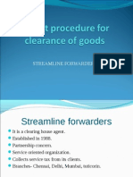 Export Procedure for Clearance of Goods (1)