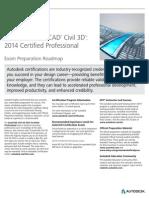 Autodesk AutoCAD Civil 3D 2014 Certification Roadmap Fall2013-Web