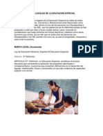 BASES LEGALES DE LA EDUCACIÓN ESPECIAL carrol